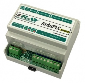 ArduPLC-Micro - Industrial Arduino PLC - 6 Analogue Inputs, 6 Digital Inputs, 4 Relays, I2C Expansion