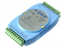 EDAM-8050D - RS485 ASCII / MODBUS 8 Channel Digital output, 8 Channel Digital Input