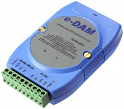 EDAM-8530U4 Isolated USB to 4-port RS485 Converter - Hub