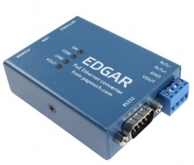 EDGAR  POE Ethernet to RS232 RS485 Serial Converter