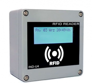 IND-M4 - RFID  Reader Relay Controller 13.56MHz - LCD, Ethernet, RS485 and USB