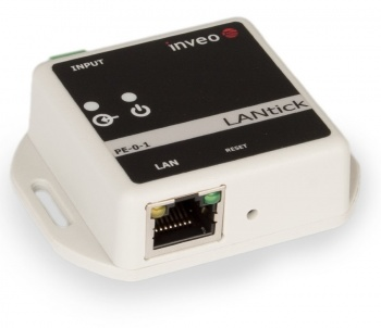 LanTick PE-0-1 - Ethernet Digital input Unit with pulse counting, Web, Modbus TCP, KNX-IP