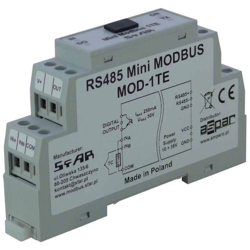 MOD-1TE - Mini RS485 Modbus 1 Thermocouple or RTD Input, 1 Digital ...