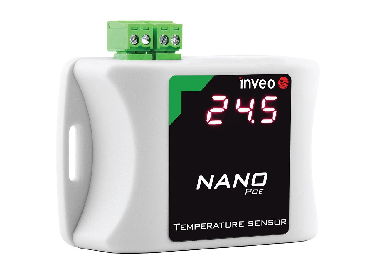 Nano Temp Poe Ethernet Temperature Sensor With Led