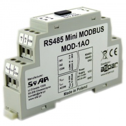 MOD-1AO - Mini RS485 Modbus 2 Analogue Outputs, 2 Digital Input RTU