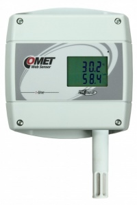 T7610 - Ethernet Temperature, Humidity and Atmospheric Pressure Alarm unit with LCD and POE