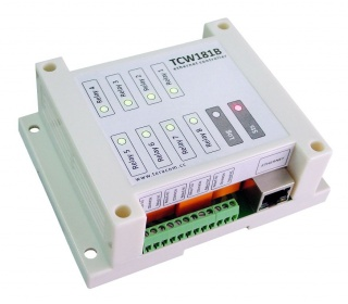 TCW181B - Ethernet Relay Unit, 8 Relays,1 Digital Input