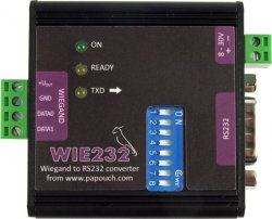 WIE232 - Wiegand to RS232 Converter