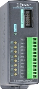 X-15S - 8-Channel Digital Input/Counter Expansion Module