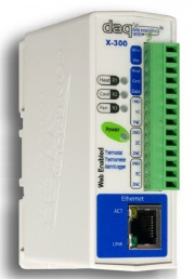 X300-E - Ethernet Temperature Module with Thermostat, Web Server and email, POE
