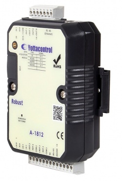 A-1819 Ethernet Modbus TCP - 8-Ch Analogue Input Unit, 4-20mA, Thermocouples, Thermistor