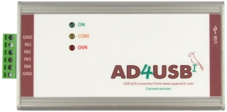 AD4USB - USB Analogue Input unit with Modbus