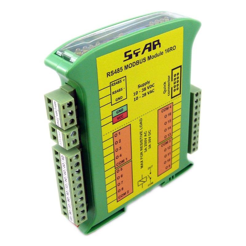 MOD-16RO - RS485 Modbus 16 Relay Output RTU
