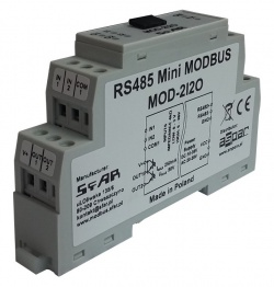 MOD-2I2O - Mini RS485 Modbus 2 Digital Input, 2 Digital Output RTU