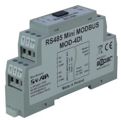 MOD-4DI-M - Mini RS485 Modbus 4 Channel Digital Input Pulse Counting with Memory RTU