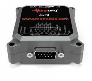 MonoDAQ-E-DI4 EtherCAT Isolated 4-Channel Digital Input Unit