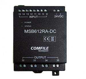 MSB612RA-DC - CuBloc PLC - 8 Inputs, 4 Relays, 8 Analogue, RS232