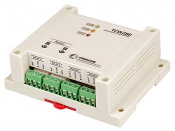 TCW280 - Ethernet Analogue output module, 2 relays, 4 digital out, 2 analogue