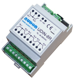 UDIN-8R - USB 8-channel Relay Unit