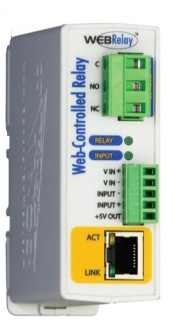 WebRelay - Ethernet Relay Module with  Web, XML, Modbus