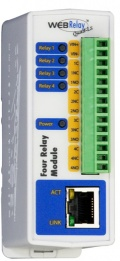 WEBRELAYQUAD-POE - Ethernet Relay Unit with HTTP, SNMP, and Modbus/TCP with Power over Ethernet
