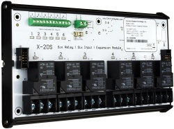 X-20S - 6-Channel High Power Relay, 6 Digital Input Expansion Module