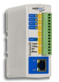 X-301-E WebRelay-Dual - Ethernet Digital IO with Calender Scheduling, Web, SNMP, Modbus - Power Over Ethernet