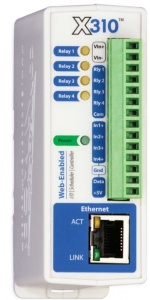X-310S-I Four Channel Ethernet Digital IO with Calender Scheduling, Web, SNMP, Modbus