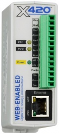 X-420-I Web-Enabled Analogue and Digital Programmable Controller